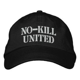NO-KILL UNIDO: HAT-WHT GORRAS DE BEISBOL BORDADAS