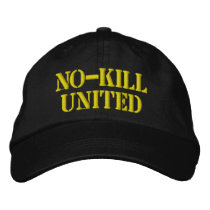 NO-KILL UNITED : HAT-CAN EMBROIDERED BASEBALL CAP