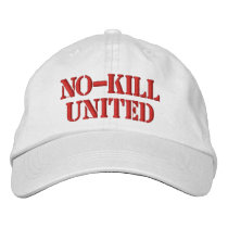 NO-KILL UNITED : HAT-WLPSTK EMBROIDERED BASEBALL HAT