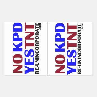 No KPD Yes TNT LG Rectangular Sticker