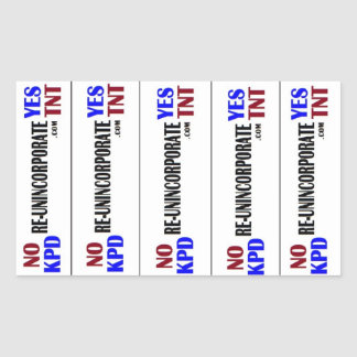 No KPD Yes TNT Rectangular Sticker