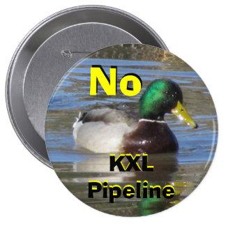 No KXL Pipeline Pinback Button