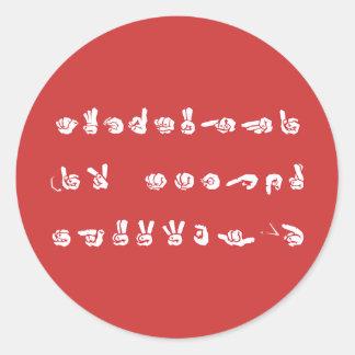 No L ASL Graffiti Sticker