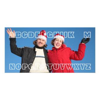 """No L"" Funny Wordplay Joke Custom Christmas Card"