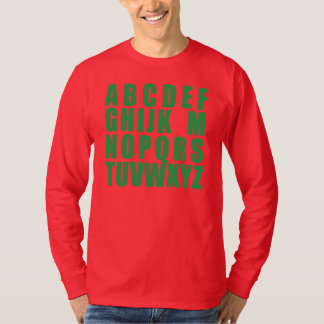 No L (Green on Red) T-Shirt