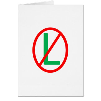 No L (Noel) Christmas Card