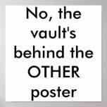 No, la cámara acorazada detrás del OTRO poster