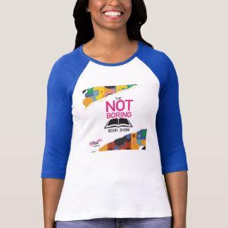 No la camiseta azul de la manga de la demostración