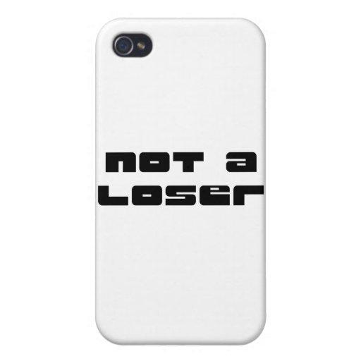 """""""No la colección de un perdedor"""" iPhone 4 Carcasas"""
