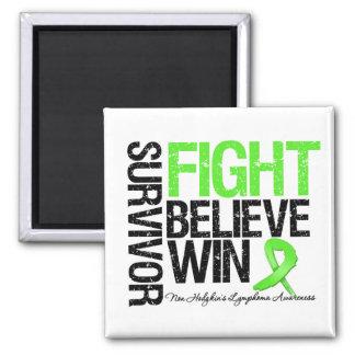 No la lucha del superviviente del linfoma de Hodgk Imán