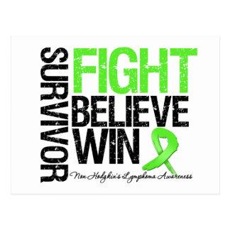 No la lucha del superviviente del linfoma de Hodgk Postales