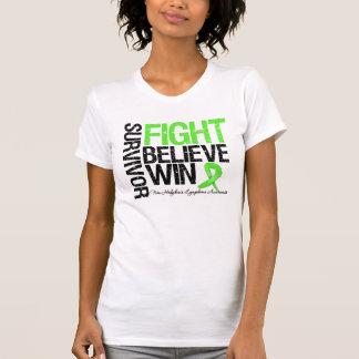 No la lucha del superviviente del linfoma de camisetas