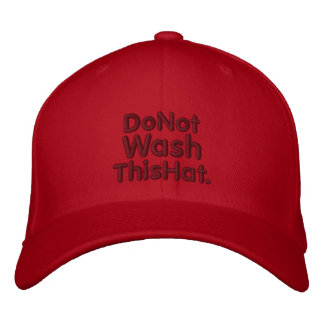 No lave gorra gorra de béisbol bordada