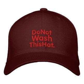 No lave gorra gorras bordadas