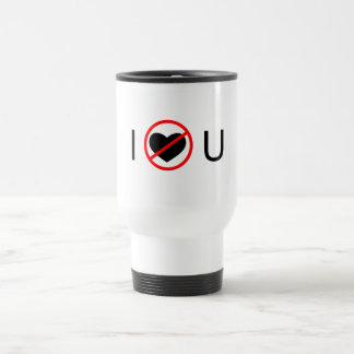 No le amo taza térmica