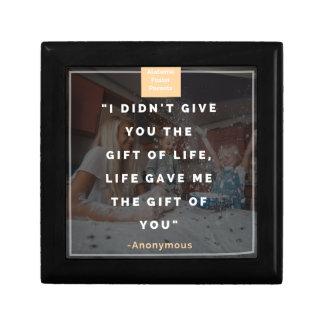 No le di el regalo de la vida, vida me di joyero cuadrado pequeño