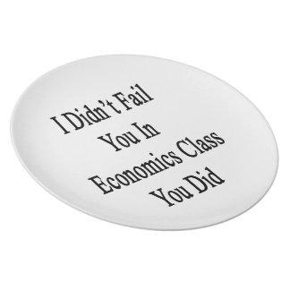No le fallé en clase de la economía que usted lo h platos para fiestas