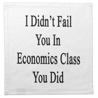 No le fallé en clase de la economía que usted lo h servilletas de papel