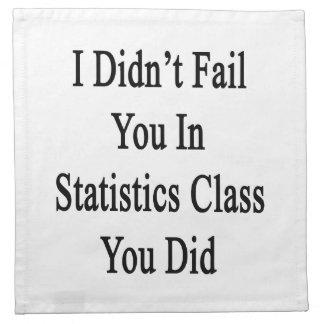 No le fallé en estadísticas le clasifico hice servilletas imprimidas