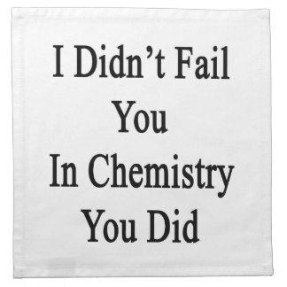 No le fallé en química que usted lo hizo servilletas imprimidas