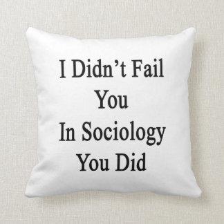 No le fallé en sociología que usted lo hizo cojin
