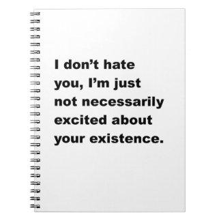No le odio libro de apuntes con espiral