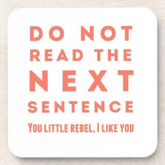 No lea la frase siguiente