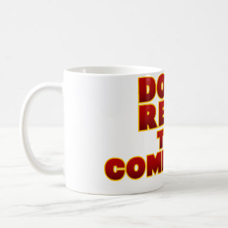 No lea los comentarios taza de café