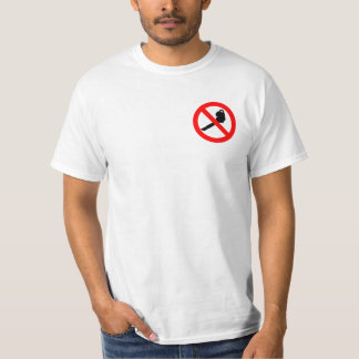 No Leaf Blowers Logo T-Shirt