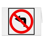 No Left Turn Highway Sign Greeting Card