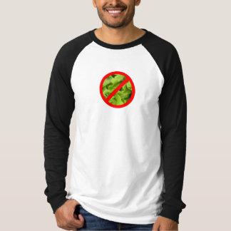 "NO lettuce ""salad dodger"" symbol t-shirt"