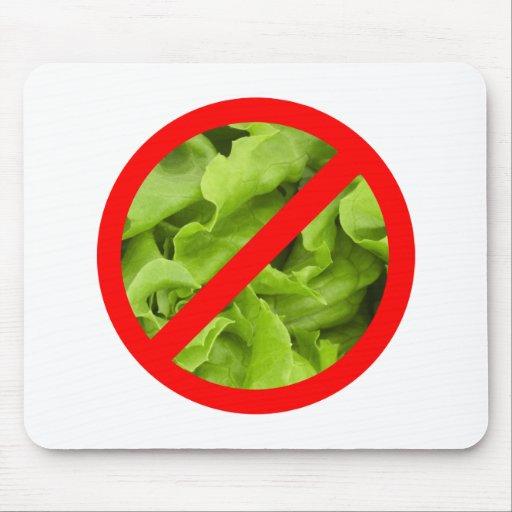 NO lettuce symbol mouse mat