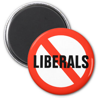 NO LIBERALS Magnet