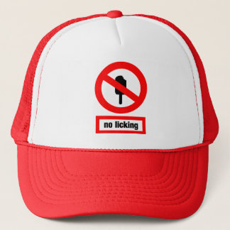 no licking trucker hat