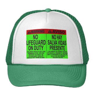 NO LIFE GUARD ON DUTY TRUCKER HAT
