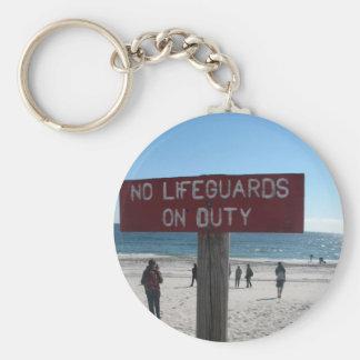 No Lifeguards Keychain