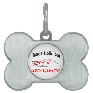 No Limit Poker Pet ID Tag