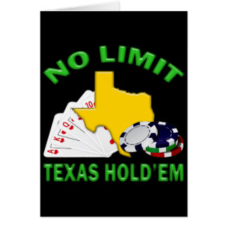 NO LIMIT TEXAS HOLD'EM CARD