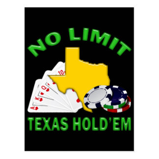 NO LIMIT TEXAS HOLD'EM POSTCARD