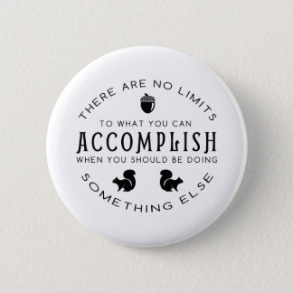 No Limits - Black Pinback Button