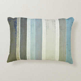 'No Limits' Blue Abstract Art Decorative Pillow