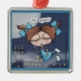 No Limits-City Girl Metal Ornament