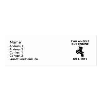 No Limits - Dirt Bike Motocross Profile Card Mini Business Card