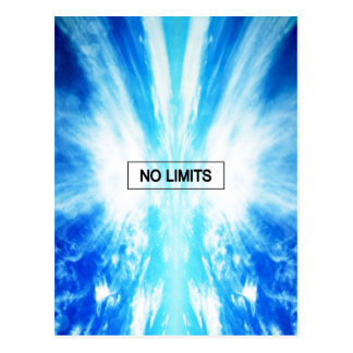 No limits postcard