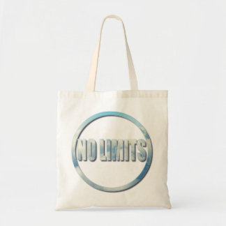 No Limits, The Sky Is The Limit Circle Quote Tote Bag