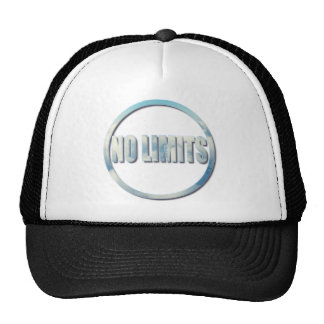 No Limits, The Sky Is The Limit Circle Quote Trucker Hat