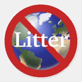 No Litter Allowed Sticker - Customized