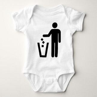 No Littering Baby Bodysuit