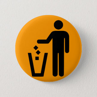No Littering Pinback Button