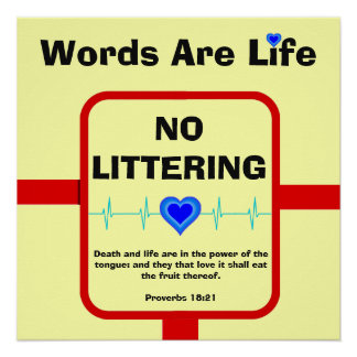 No Littering Poster